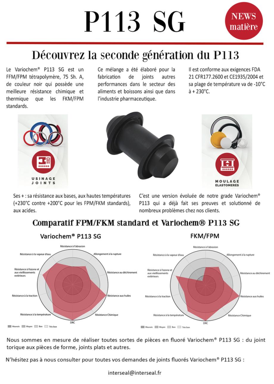 Variochem® P113 SG, fluoré, viton, résistant acide, FKM, FPM